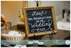 Thumbprint Guest Book Chalkboard {Calligraphy by Carrie} Photo by Robin Lin Photography