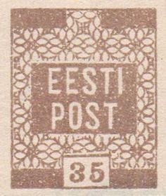 Estonia 1919. Flowers. 35 Kr