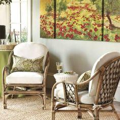 Set of 2 Harlequin Rattan Chairs | European-Inspired Home Furnishings | Ballard Designs