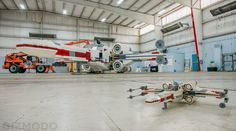 Holy, Womp Rats! Check out this amazing full-scale Lego model of an X-Wing Fighter