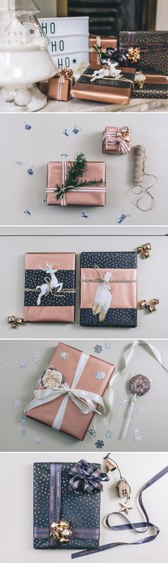 classy christmas wrapping ideas | Copper christmas wrapping ideas | Luxe christmas wrapping ideas | Alternative christmas wrapping ideas