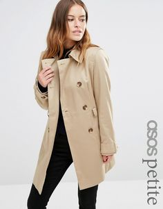 ASOS Petite | ASOS PETITE Wool Blend Duffle Coat with Checked ...