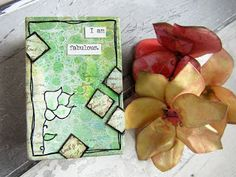 Mini Notebook by Gemma Hynes using stamps from The Artistic Stamper. #notebook #theartisticstamper #stamping #create