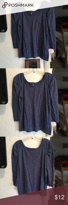 Free People Puffy Shoulder Top Great condition. Wore twice and washed one but was hung dried. 3/4 sleeves. Free People Tops Tees - Long Sleeve