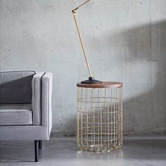 Wire Side and Coffee Tables by Dare Studio Tall Side Table, Coffee Table Dimensions, Industrial Style Furniture, Ral Colours, White Oak, Steel Frame, Coffee Tables, Contemporary Design, Armchair