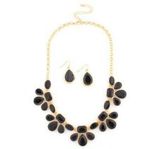 Black and gold Bib necklace available @ theLuxe-Life.com