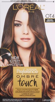 L'Oreal Paris Superior Preference Ombre Touch Hair Color, OT4 For Dark Brown Hair