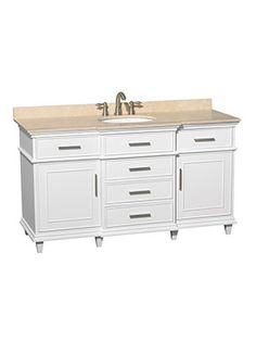 "60"" Berkeley Single Bath Vanity - White"