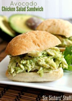 Avocado Chicken Salad Sandwhich #avocado #chicken #foodporn #dan330
