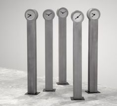 Concrete Clocks by Johan Forsberg