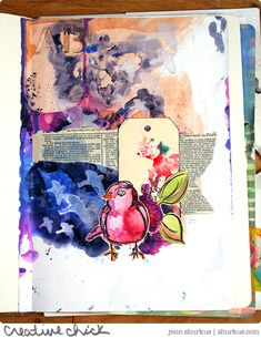 Art Journal Play Series: Watercoloring with Acrylics with Dina Wakley | shurkus.com