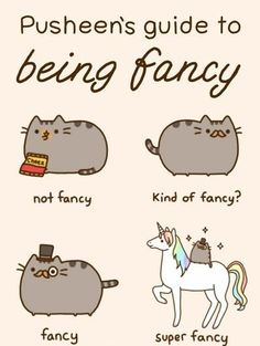 i love being fancy on a unicorn.