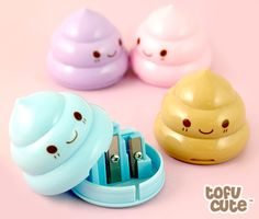 Kawaii Pastel Poop Double Pencil Sharpener