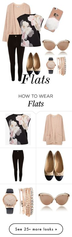 """Comfort"" by lilloca5150 on Polyvore featuring Chanel, MANGO, River Island, Ted Baker, Linda Farrow and Jessica Carlyle"