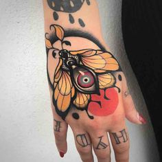 Moth tattoo by at Stay Gold Tattoo in Reggio Emilia Italy Hand Tattoos, Best Sleeve Tattoos, Body Art Tattoos, Knuckle Tattoos, Tattoo Sleeves, Neotraditional Tattoo, Handpoked Tattoo, Moth Tattoo Meaning, Tattoos With Meaning