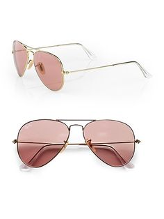 rose gold ray ban aviators.
