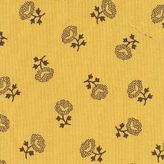 Reproduction Fabrics - mid 19th century, 1825-1865 > fabric line: Chrome Yellow/Orange