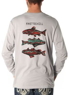 Tres Pez L/S Shirt in Pebble Grey by Fayettechill Clothing Company - Fayettechill Clothing Company