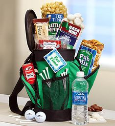 Father's Day Flowers, Plants & Gifts for Dad 2019 Perfect for the golfing Dad, this snack filled golf bag is also a reusable cooler! Fathers Day Gift Basket, Fathers Day Gifts, Best Dad Gifts, Gifts For Dad, Golf Gifts For Men, Man Gifts, Themed Gift Baskets, Golf Gift Baskets, Golf Ball Crafts