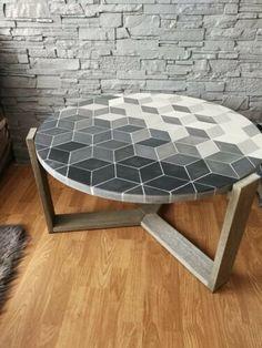 Mosaic Indoor Concrete Table | eBay Concrete Table, West Elm, Mosaic, Indoor, Coffee, Ebay, Furniture, Home Decor, Interior