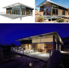 Strong, lightweight and versatile, this home really shows what metal can do. Galvanized steel parts are shipped flat to the site, making it easier to build in remote and difficult-to-access locations (like the desert). Even more impressive: the exterior frame takes one day and full cladding syst ...