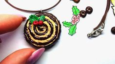 DIY Necklace | Piece Of Roll Cake | Easy Jewelry | - Polymer Clay Tutorial