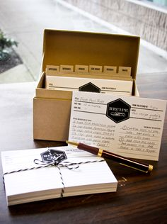 Retro Style Recipe Box & Cards - $22