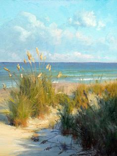 Sea Oats Painting by Armand Cabrera