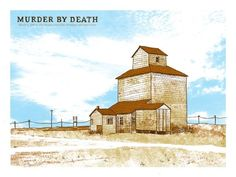 murder by death music gig posters | Murder by Death / Fake Problems Concert Poster by Nate Duval