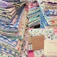 Our gorgeous fabrics ready to cut & send #patchwork #shabby chic hotpinkhaberdashery.com