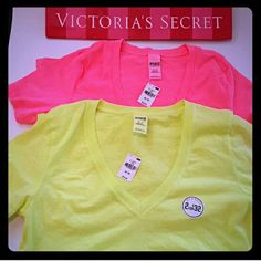 New! PINK 2 shirt summer bundle! 2 shirts New with tags Long fit Skinny fit PINK Victoria's Secret Tops