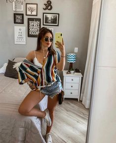 Best Jeans For Women Jeans Boyfriend Casual Summer Outfits For Teens, Summer Outfits Women 30s, Summer Outfit For Teen Girls, Spring Outfits, Casual Outfits, Fashion Outfits, Casual Shorts, Woman Outfits, Club Outfits
