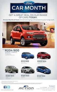 Catch these amazing deals on our Car Month promotion! Great Deals, Promotion, Ford, Bring It On, Amazing