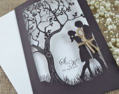 90 laser cut invitations with envelopes and 90 by FoxfordAtelier
