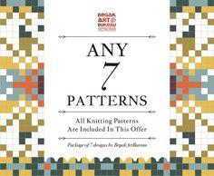 Knitting Pattern Bundle, 7 Knit Patterns PDF Discount Package Knitting Designs, Knitting Patterns, Pdf, Unique Jewelry, Handmade Gifts, Etsy, Knitting Projects, Kid Craft Gifts, Knit Patterns
