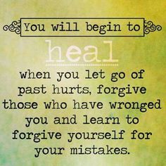 For me, forgiving others is easier than forgiving myself. Working on it. Won't give up!