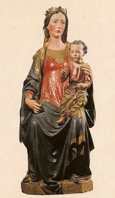 Francesco di Valdambrino (attr. a):  Our Lady of the Clergymen  (15th c. Cathedral at Volterra, Italy)
