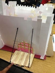 Furnitures Cool Art Projects Paper Castle Draw Bridge Using Yarn Popsicle Sticks Wall Tower Tape For Portcullis Small