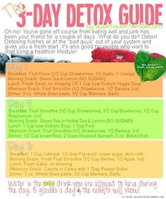 3-day detox guide for those of you who cheat on occasion!