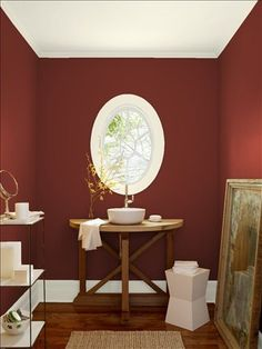 bathroom | benjamin moore rushing river | **my home