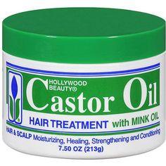 Hollywood Beauty Castor Oil Hair Treatment with Mink Oil, 7.5 oz