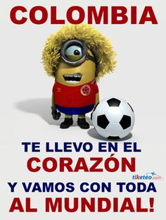 Colombia!!! Asi esss!!! Minions Bob, My Minion, Minion I Love You, Minion Painting, Colombia Soccer, Colombian Art, Soccer Fans, Despicable Me, World Cup