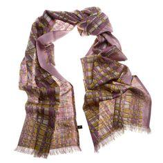 """Cold pink - Nueva versión del diseño inspirado en texturas de tejido y mimbre.Bufanda tubular de """"étamine"""", de increíble tacto por la mezcla de lana-seda."""