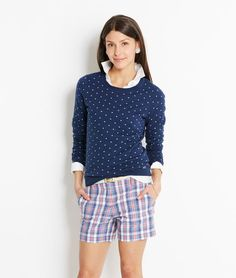 Shop Sweaters: Polka Dot Crew Sweater for Women | Vineyard Vines
