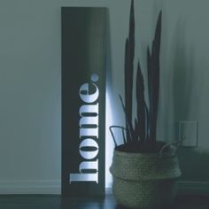 """Stainless steel """"home"""" with LED back lighting by www.lisasarah.com"""