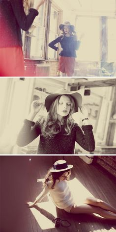 LOVE these retro style shots - I will own my huge floppy hat and oversize sunglasses this summer!
