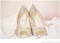 Jimmy Choo gold sparkly wedding shoes