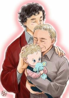 I don't necessarily ship Johnlock but DAMN this is cute