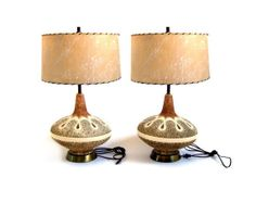 Vintage Pair Table Lamps Mid Century Modern Chalkware Lamps Fat Lava Pottery Danish Modern Lighting Retro Table Lamps Mid Century Lamp on Etsy, $375.97 CAD