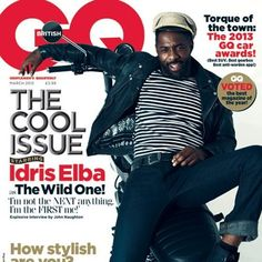 Idris Elba on GQ - just to much swag in this photo!